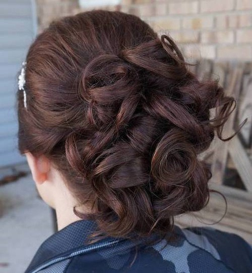 20 curled formal updo