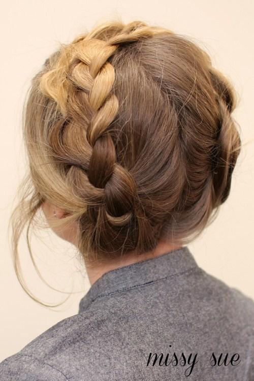 20 easy heidi braids updo