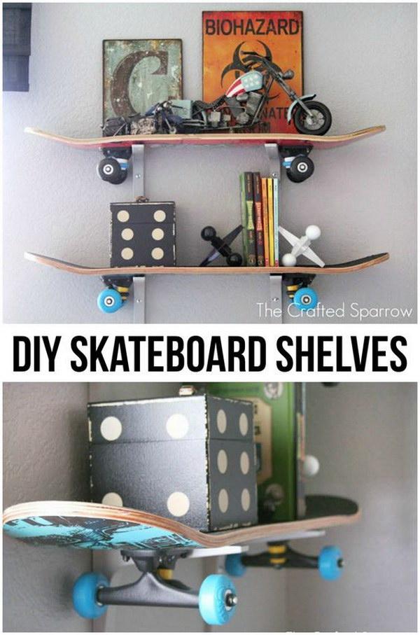 21 DIY Skateboard Shelves