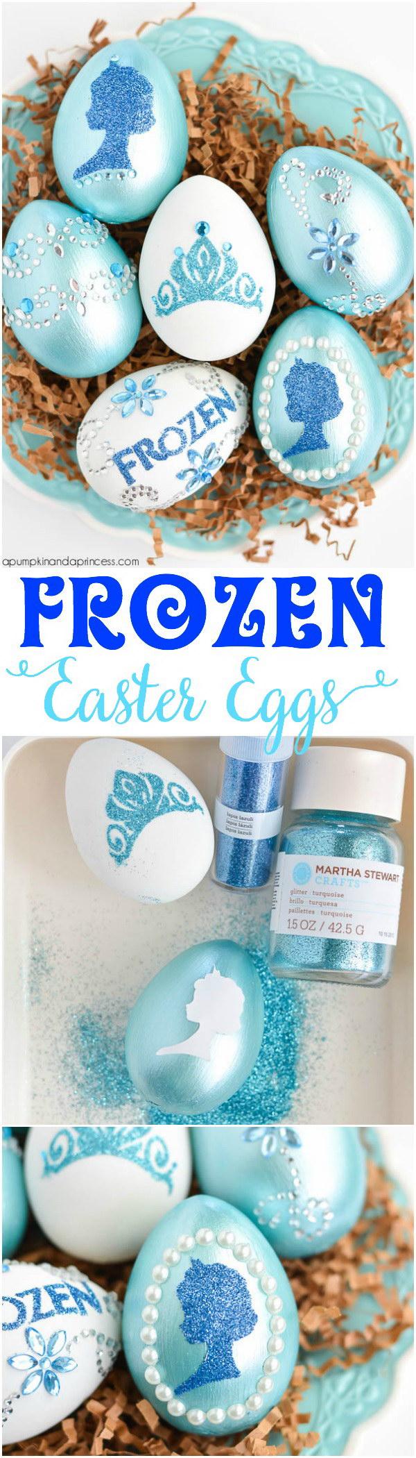 22 DIY Disney Frozen Easter Eggs