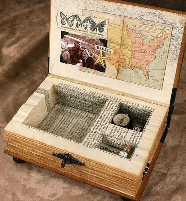 22 Recycled Book Keepsake Box
