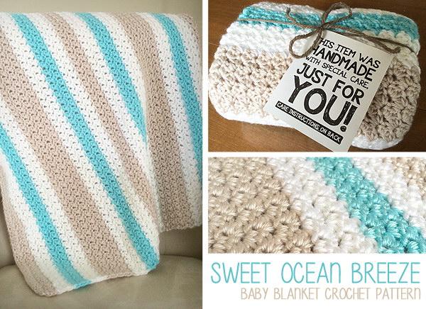 22 Sweet Ocean Breeze Baby Blanket