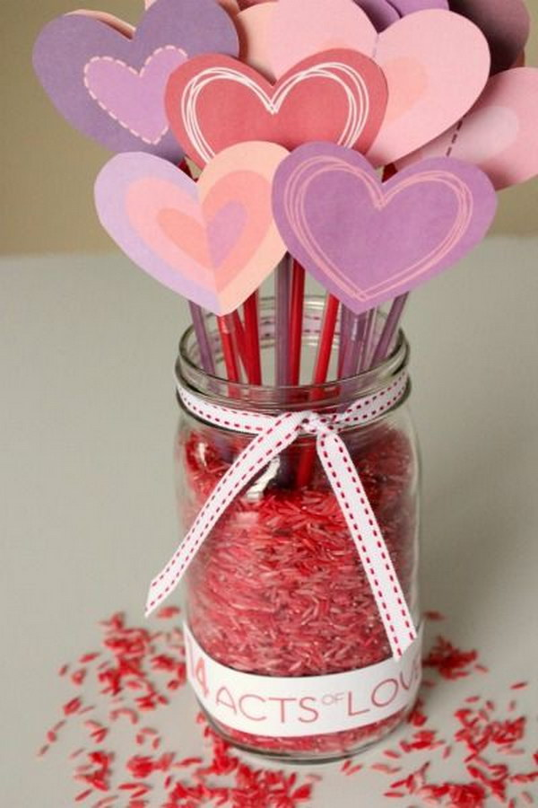 23 Counting Down to Valentine's with 14 Days of LOVE Mason Jar
