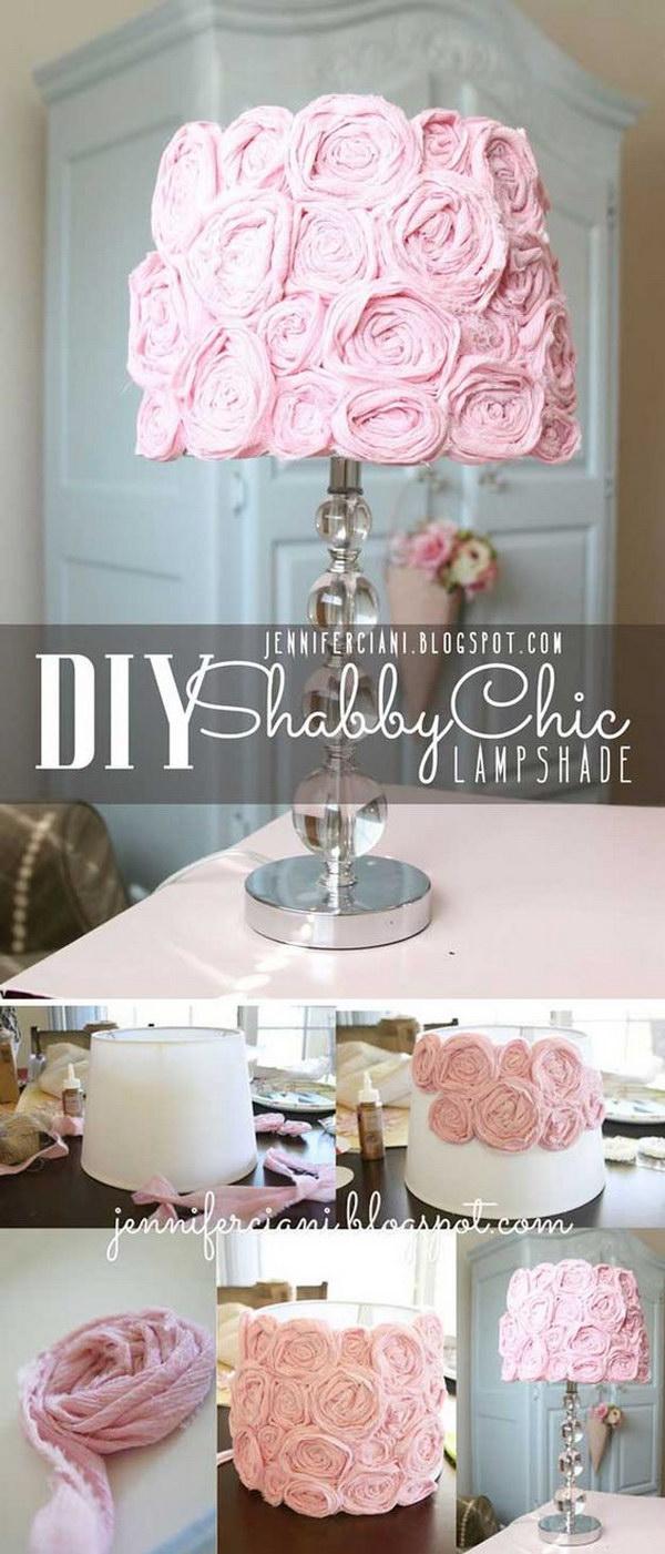 23 DIY Shabby Chic Lampshade