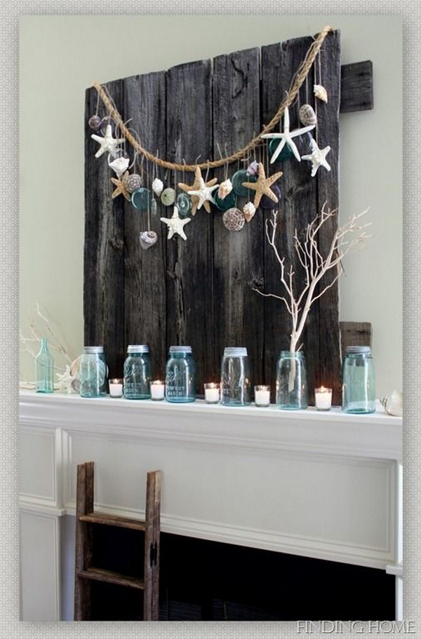 23 DIY Summer Mantel Decor