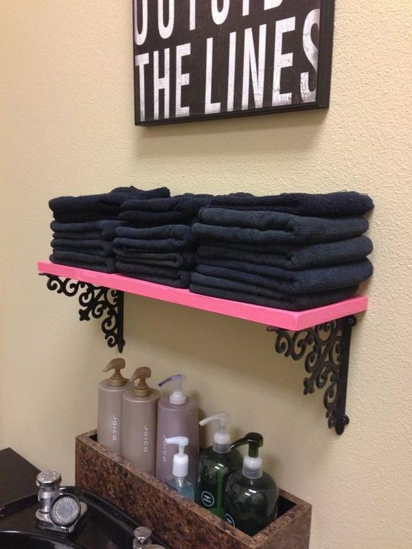23 Pink Shelves & Hobby Lobby Brackets