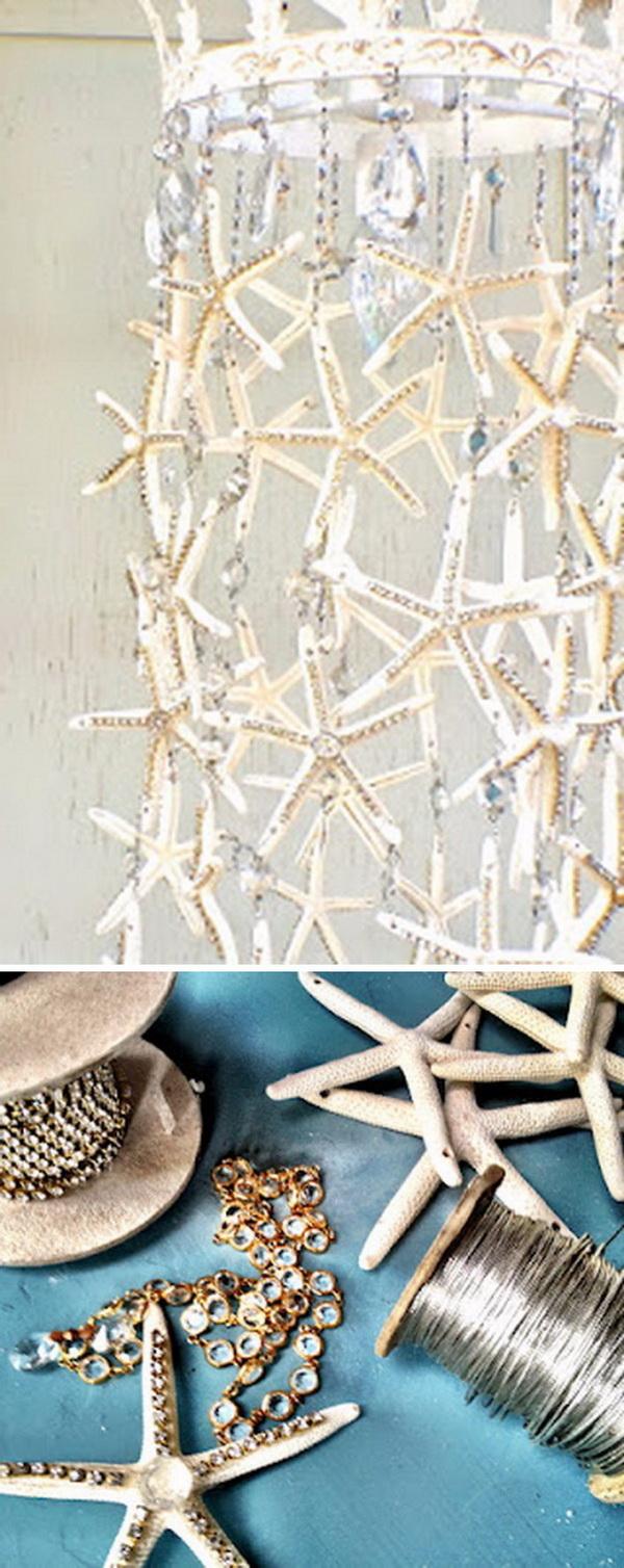 24 DIY Starfish Chandelier