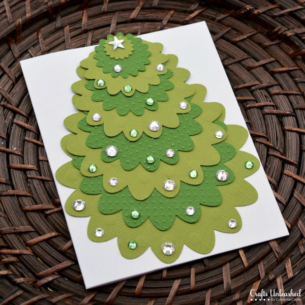 24 Die Cut Christmas Card