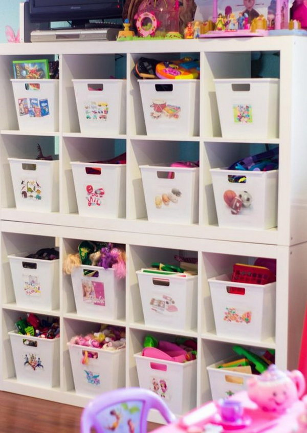 24 Dollar Store Bins for Kids' Room Storage