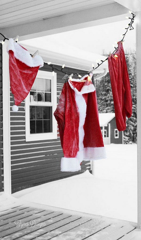 24 Hanging Santa Claus Suit