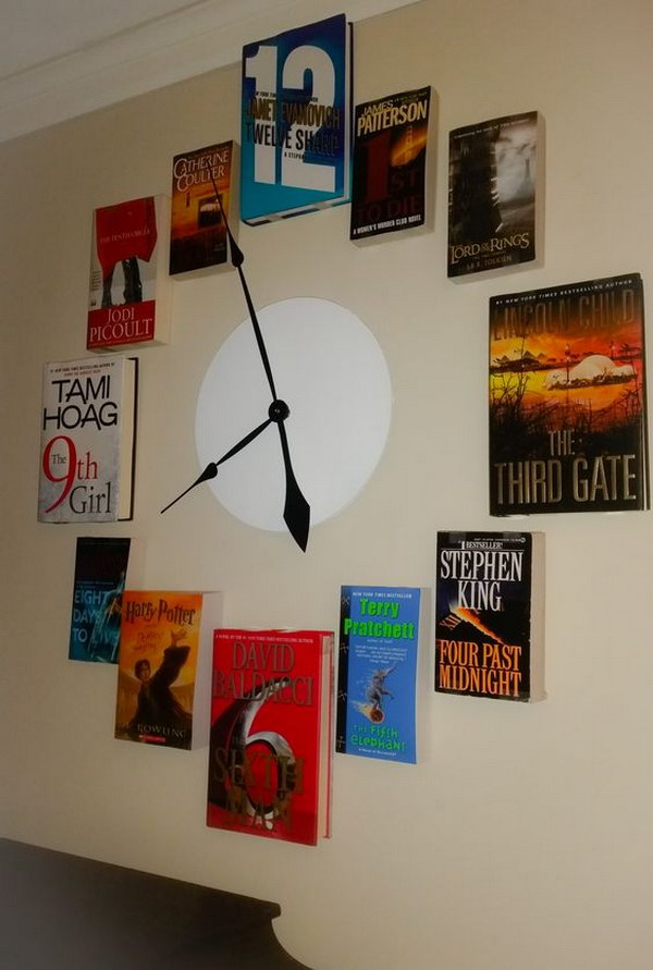24 Upcycled Old Book O'Clock