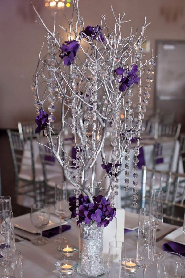 44 awesome diy wedding centerpiece ideas tutorials page 25 25 branches spray painted as centerpieces junglespirit Choice Image