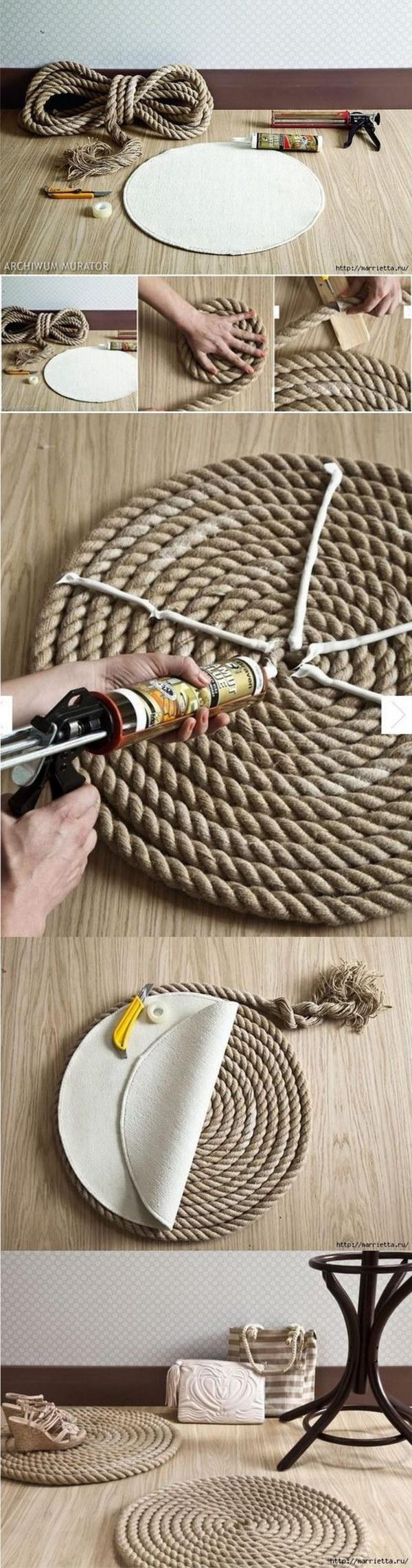 25 DIY Rope Rug