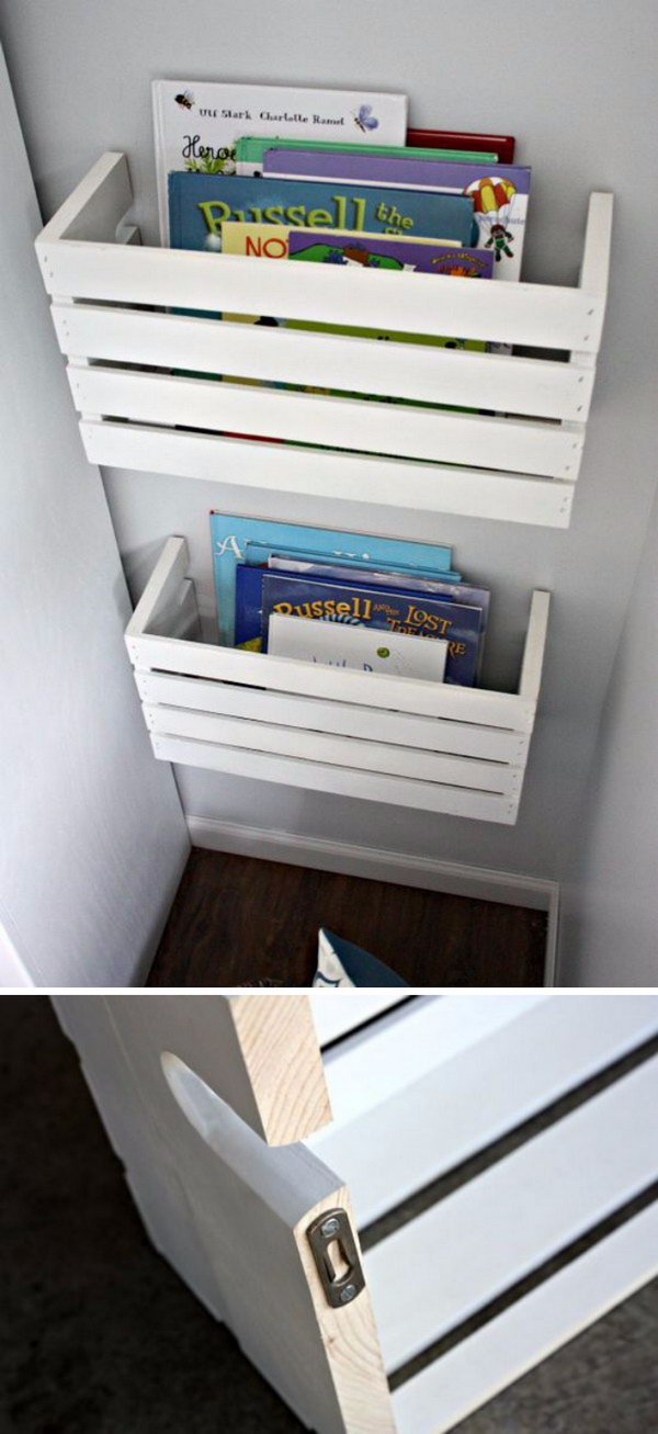 26 DIY Crate Book Shelves