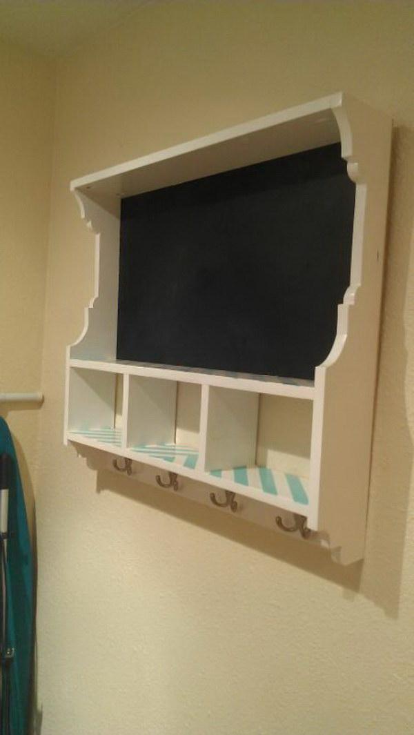 27 Chalkboard Cubby Shelf