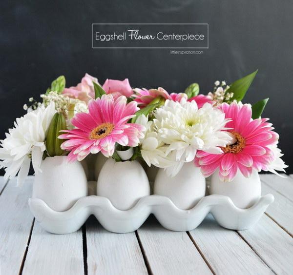 27 DIY Eggshell Flower Centerpiece