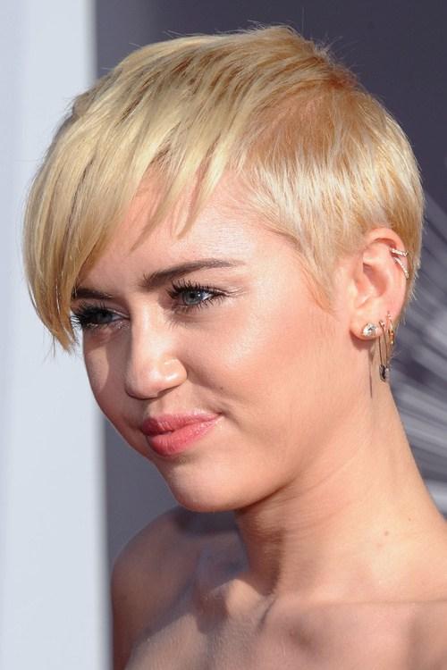 27 short blonde hair with bangs