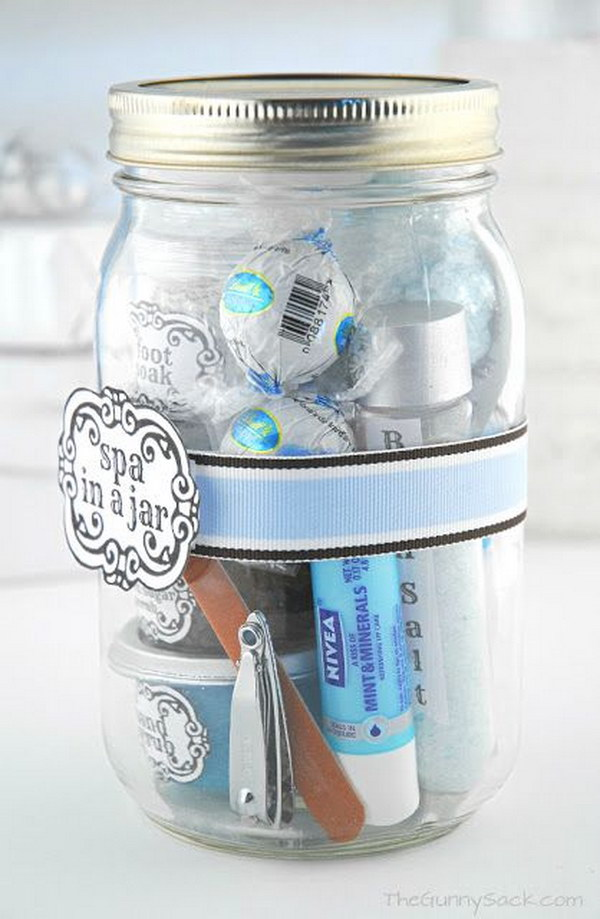 28 DIY Spa in a Jar Valentine鈥檚 Day Gift