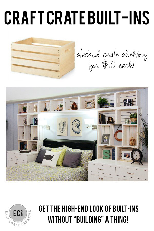 29 DIY Crate Built-In Shelving
