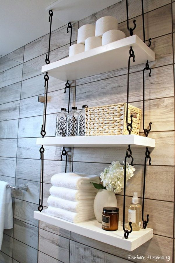 29 Hook Connected Hanging Shelving
