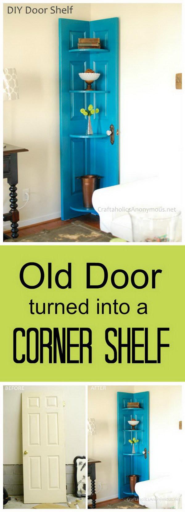 3 DIY Corner Door Shelf
