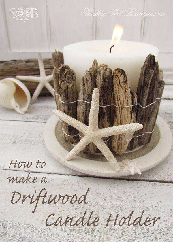 3 Driftwood Coastal Candle Holder