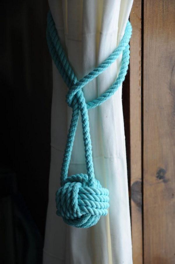 30 Nautical Knot Curtain Tieback