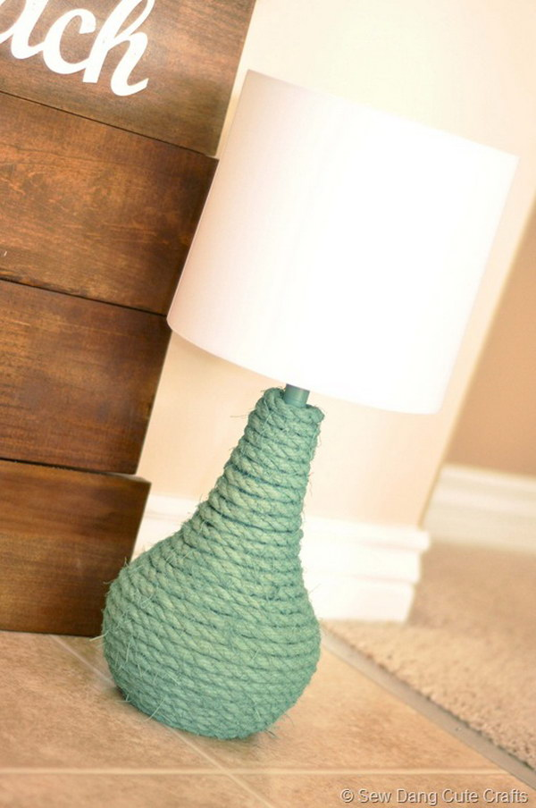 31 DIY Jaded Rope Lamp Tutorial