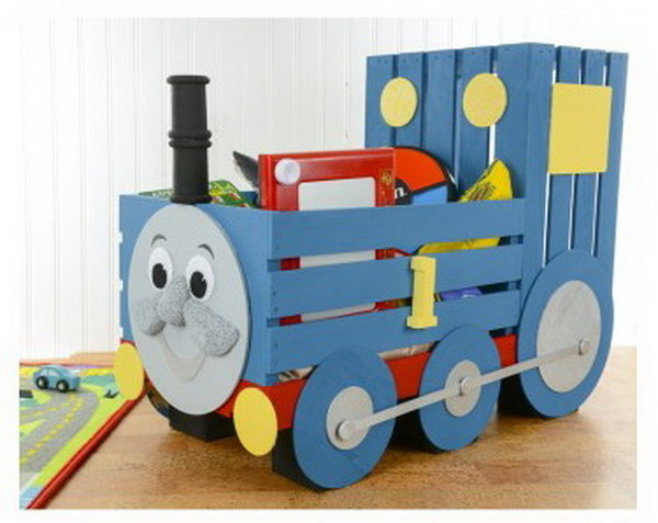 31 DIY Thomas the Train Storage Crate