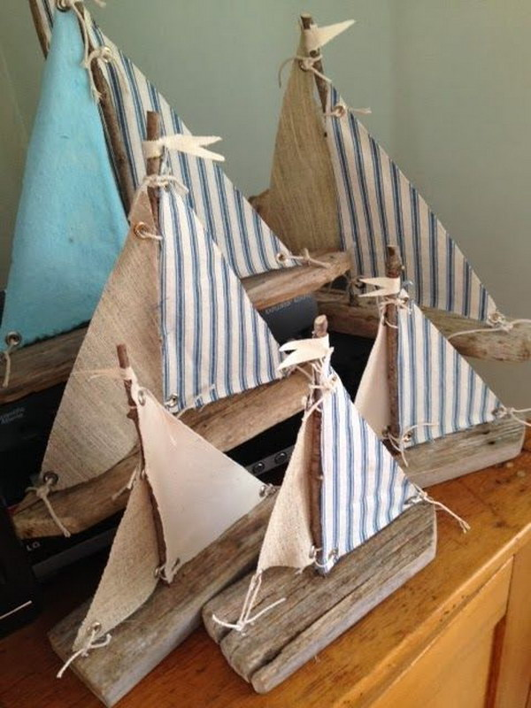 33 DIY Driftwood Sailboats