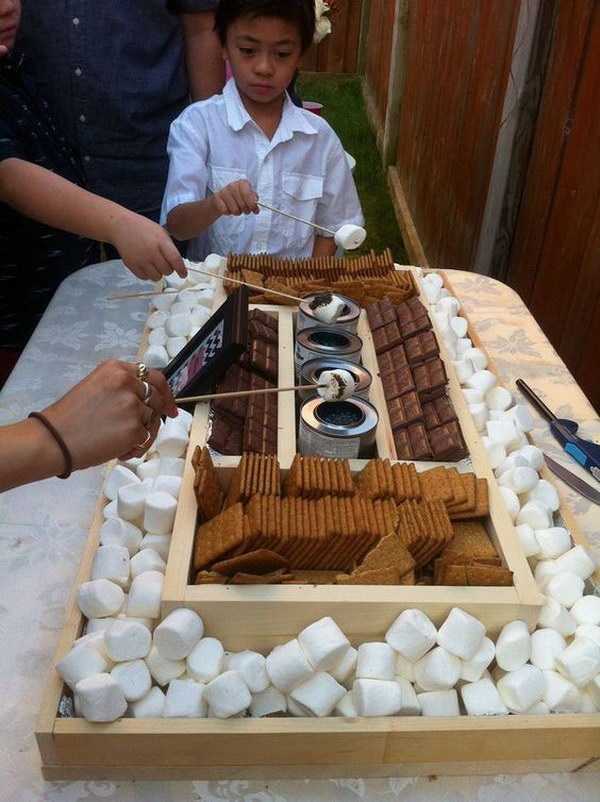 35 DIY S'mores Bar for a Reception