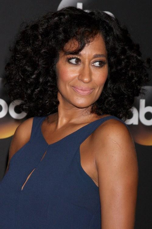35 natural curly hair with bangs