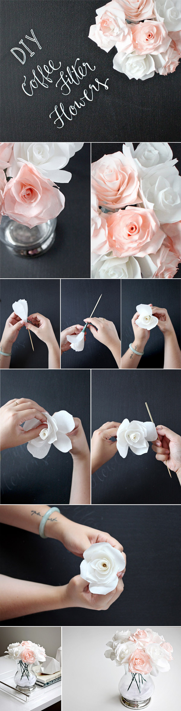 37 Easy Coffee Filter Flowers Centerpieces