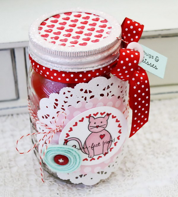 39 Cute Valentine Love Jars