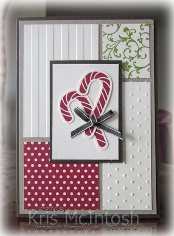 4 Candy Cane Christmas Card