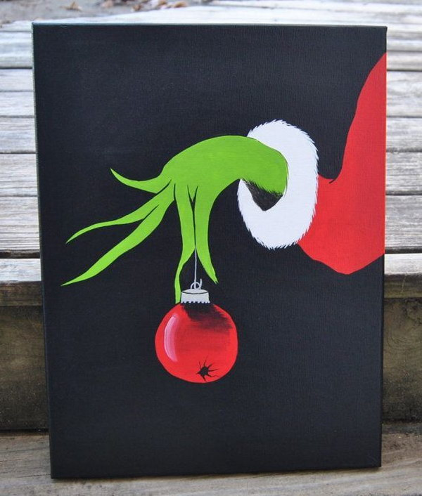 4 Christmas Grinch Canvas Painting
