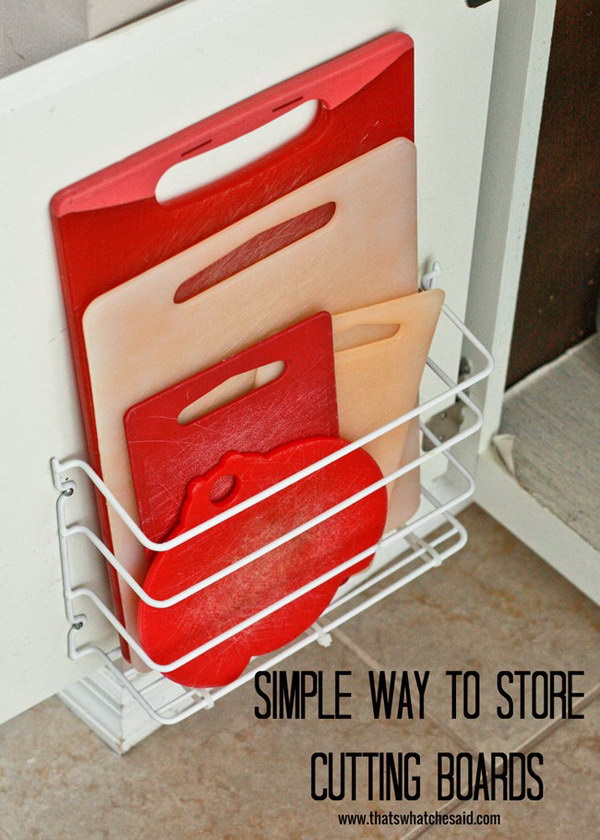 4 Cutting Board Storage with the Basic Wire Rack