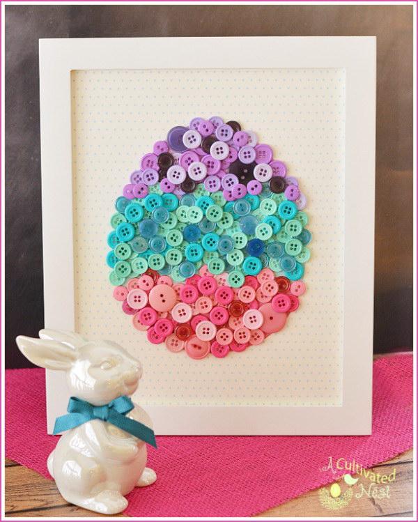 4 DIY Easter Egg Button Craft
