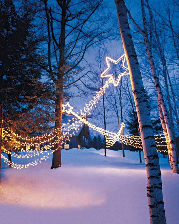 4 Shooting Star Light Displays