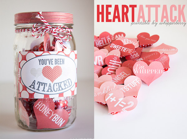 40 Valentine's Day Heart Attack Mason Jar
