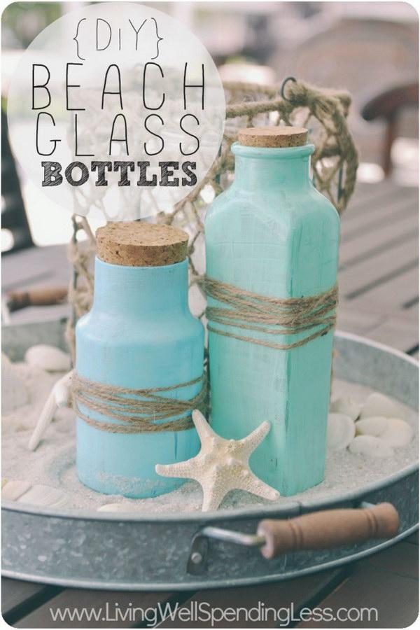41 DIY Beach Glass Bottles