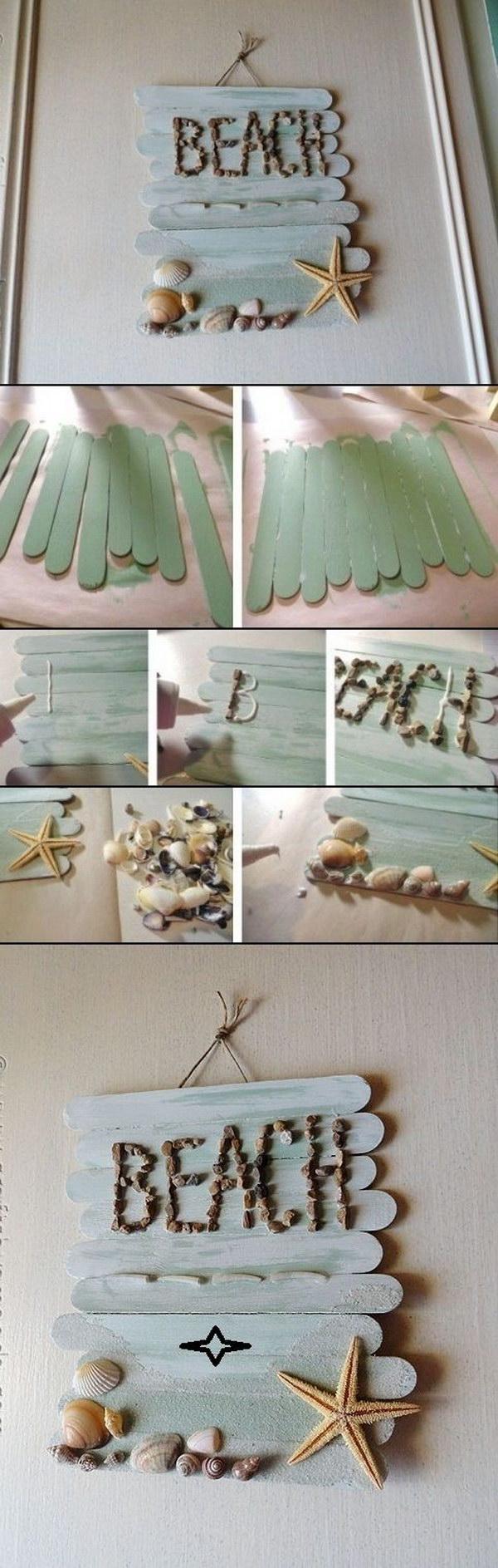 43 DIY Craft Stick Wall Art