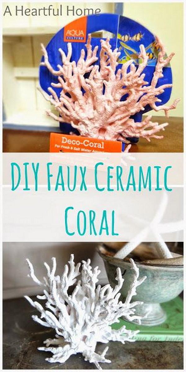 46 DIY Faux Ceramic Coral