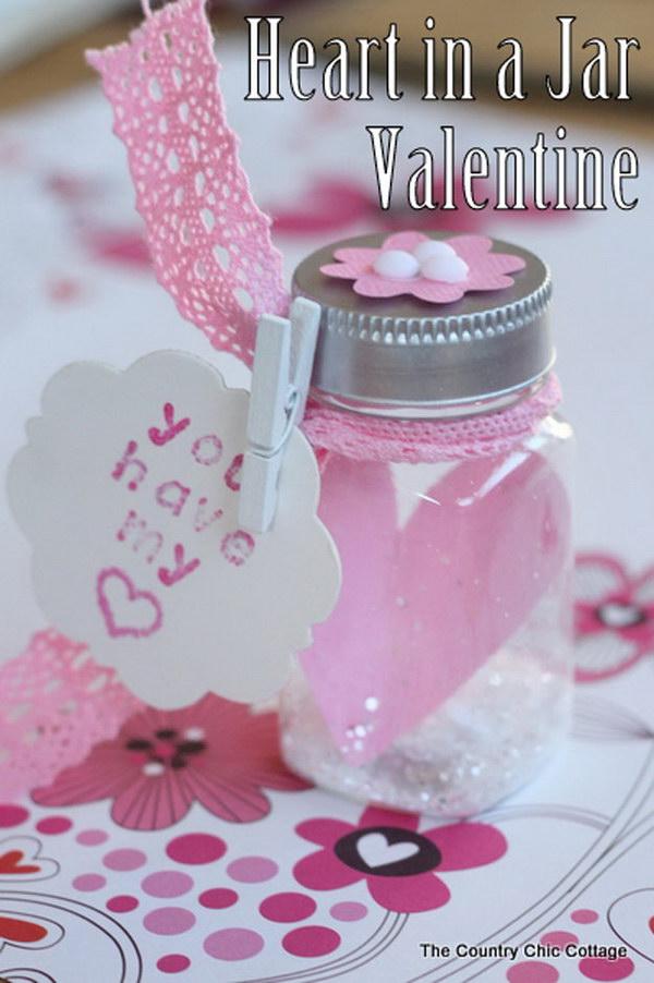 46 Heart in a Jar Valentine