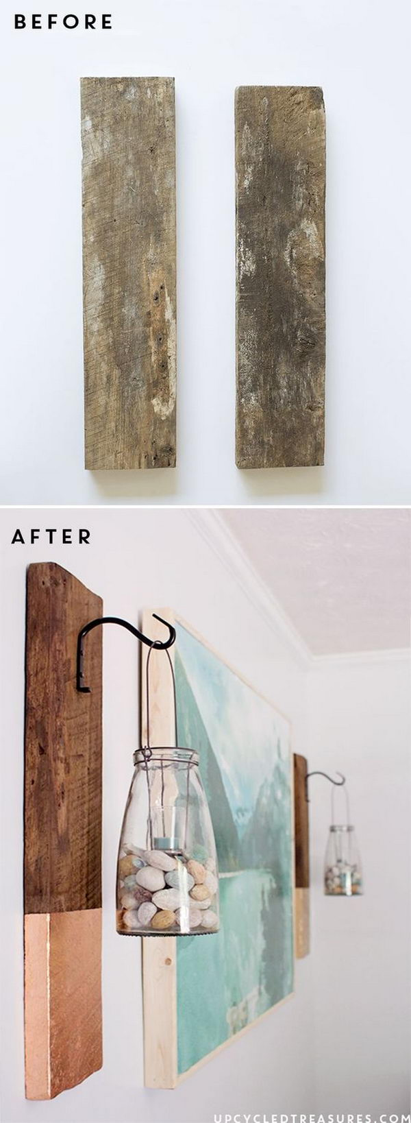 47 DIY Large Scale Wall Art with Wood Frame