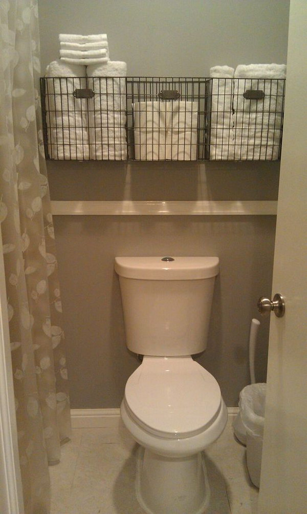 Marvelous 43 Over The Toilet Storage Ideas For Extra Space