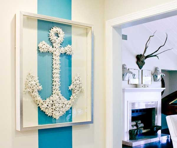 5 Starfish Anchor Wall Art