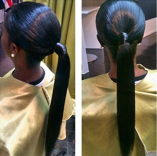 20 Classy Black Ponytail Hairstyles Page 5 Foliver Blog
