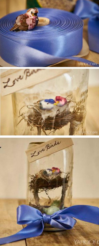 52 Love Birds Mason Jar Valentine's Day Gift