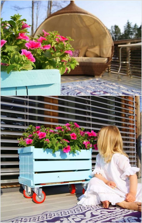 6 Beautiful Crate Planter Tutorial